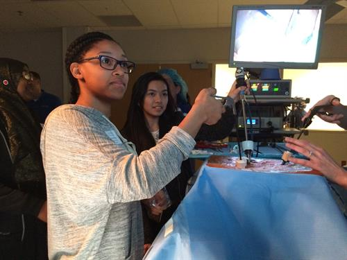 KC HealthTracks students at MCC Health Science Institute's surgical simulation lab