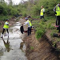 Volunteer with us in the Spring when we clean up litter near Johnson County streams!