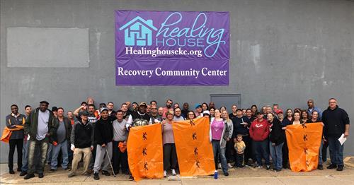 Healing House clean up the neighborhood!