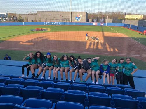Softball at Jayhawk Softball game April 2018