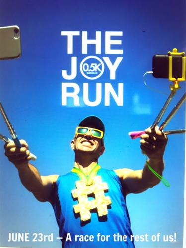 The Joy Run 0.5k - the first annual fundraiser.