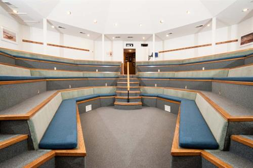 The Kiva is perfect for lectures and presentations, and can seat up to 60 people.