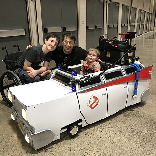 The Ghostbusters Ecto-1 Wheelchair Costume