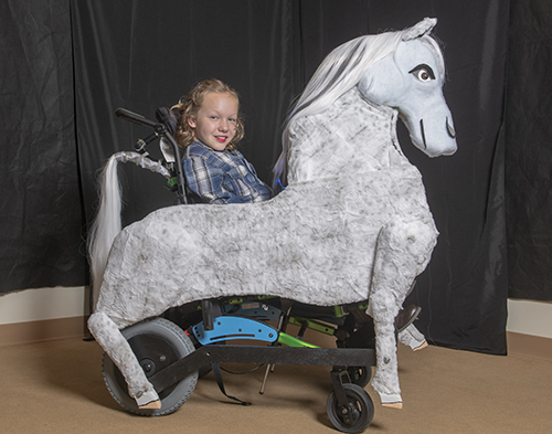 Galloping Horse Wheelchair Costume