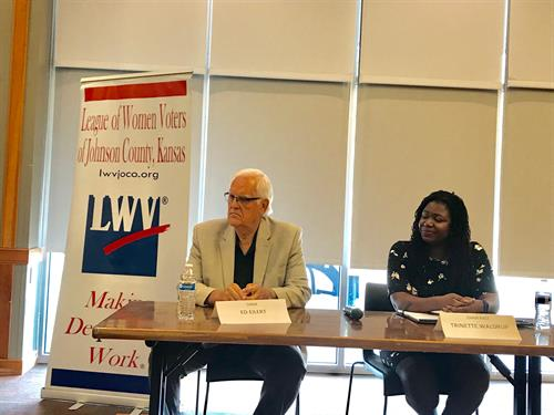 LWVJoco hosts candidate events so that voters can learn more about the people running for elected office.