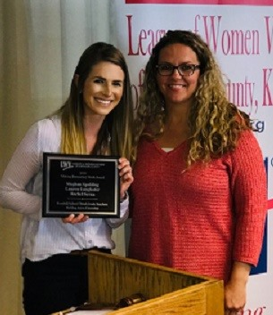 LWVJoCo recognizes citizens who are making a difference in our democracy. These teachers from Rosehill Elementary School were honored for creating curriculum for third-graders to foster civic engagement.