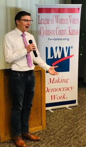 Davis Hammet, founder of Loud Light, was the featured speaker at our May meeting about everyday activism.