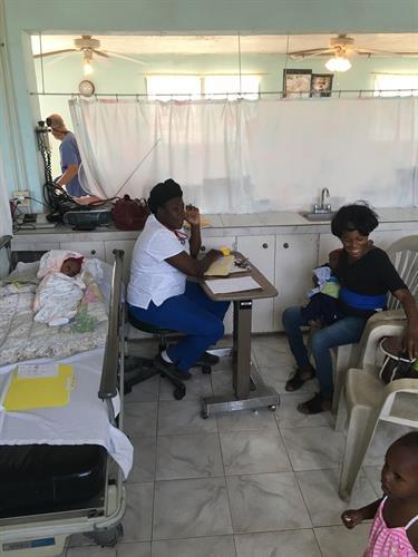 Nurse in the clinic