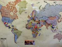 Map of student countries - Don Bosco English as a Second Language School