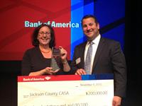 Jackson County CASA was selected as a 2015 Neighborhood Builder by Bank of America.
