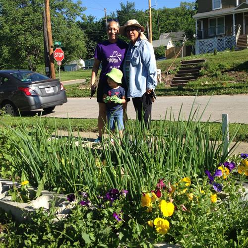 Community gardening is an intergenerational affair.