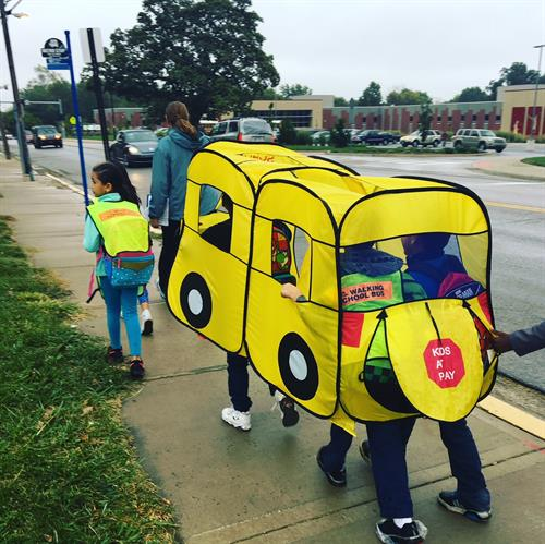 Frank Rushton scholars love the Walking School Bus!