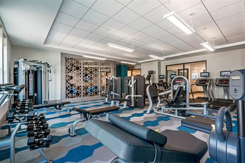 Onsite fitness center with 5 fitness classes per week.