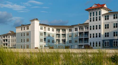 Located on the sandy shores of the Chesapeake Bay.