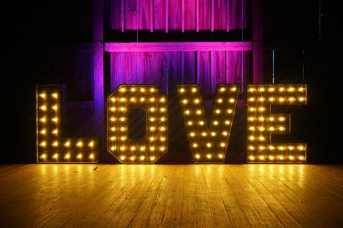 "48"" Handcrafted Wooden Letters - Wedding - Event Lighting - Decor"