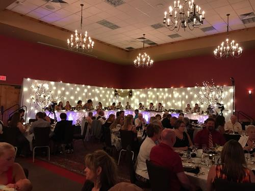 Custom Backdrops - Wedding Lighting - Event Lighting