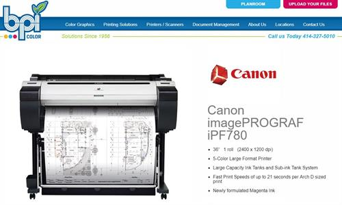 "Canon iPF780 - 36"" Plotter - BPI Color"