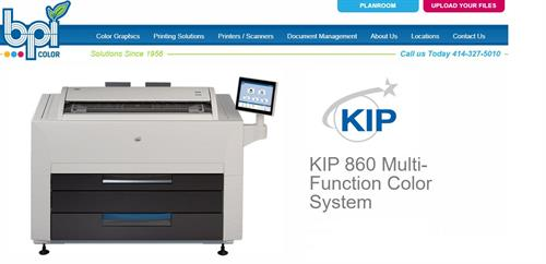 KIP 860 - Color Toner - Plotter and Scanner - Production Speeds - BPI Color