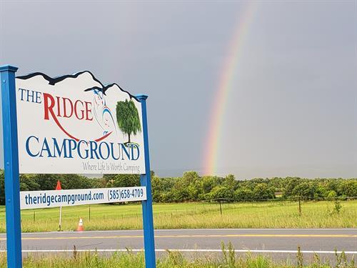 TRC sign with Rainbow