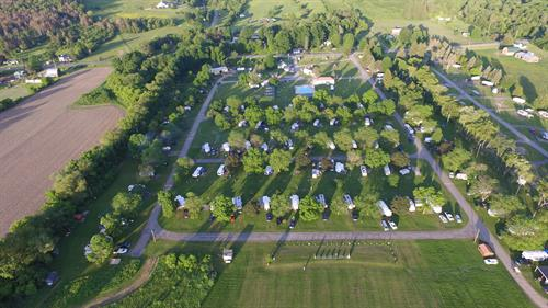 Aerial View of Trout Run Camp Resort