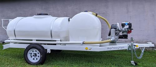 Custom 300Ext honey wagon with wash down water tank