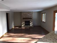 Basement remodel with additional fireplace