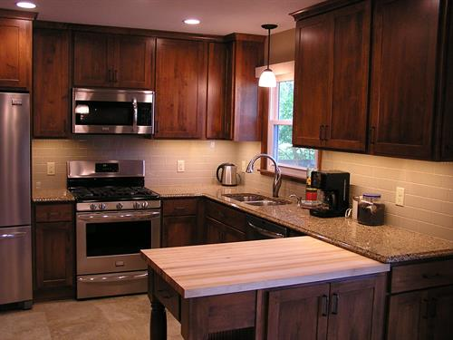 Maple Kitchen with Cambria and Butcherblock Countertops