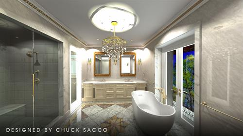Bathroom 3D rendering in 2020 Design