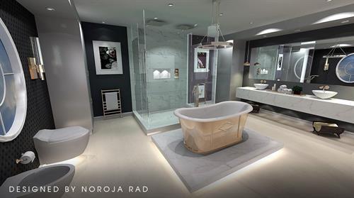 Bathroom 3D rendering in 2020 Design