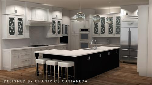 Kitchen 3D rendering in 2020 Design