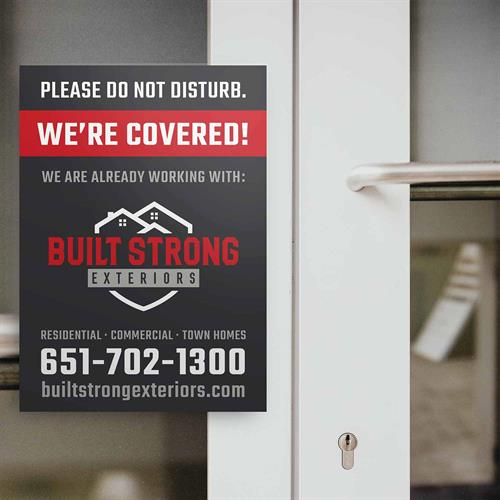 Window Cling - Build Strong Exteriors
