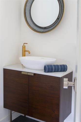 Mid Century Modern Powder Bath