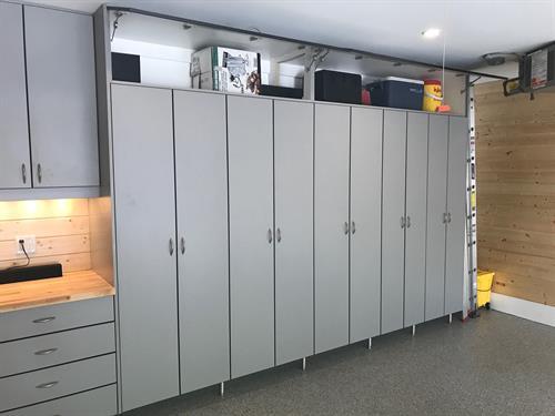 Custom Garage Organization - Cabinets, Shelving, Tool Storage