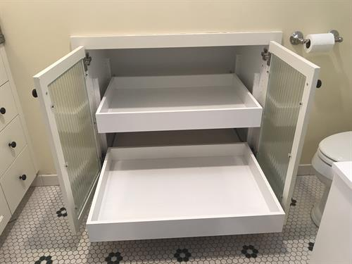 Bathroom Organization - Pull Out Shelves