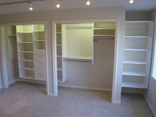 Custom Closet Systems - Reach-in Closet