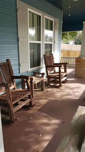 Spacious front porch facing Day St.