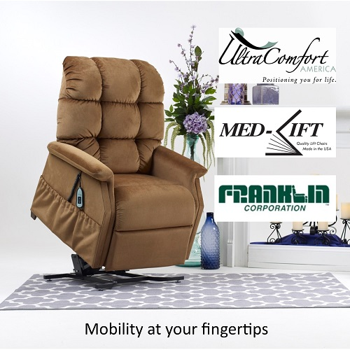 Power lift chairs including full recline, zero gravity and battery backup