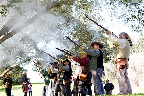 Reenactors at Texas Independence Day Celebration