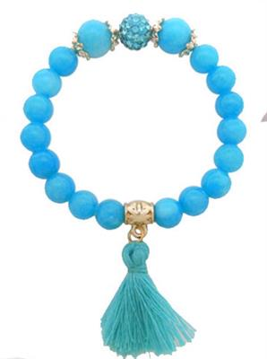 TQ Beaded with TQ Tassel Bracelet. $5.00