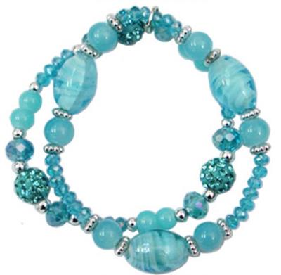 AQUA Beaded Bracelet. $7.00