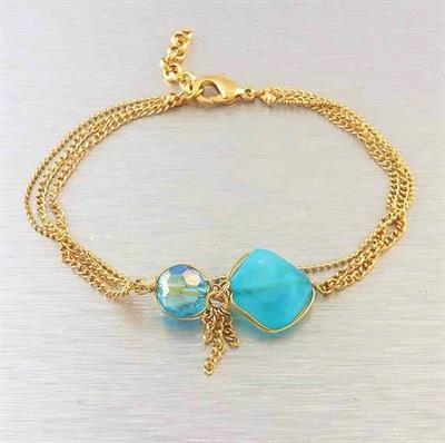 TQ Gold Chain Bracelet. $5.00