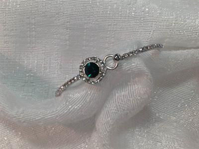 Emerald Bracelet with small CZ's $5.00.
