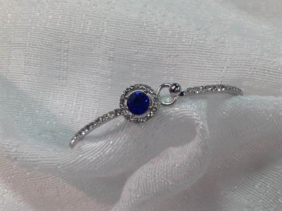 Sapphire Bracelet with small CZ's $5.00.