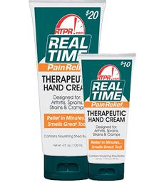 Real Time HAND Cream provides silky, smooth Shea Butter moisture and is enhanced with Aloe Vera, Willow Bark, Arnica, and more. This formula absorbs quickly and does not leave a greasy residue,