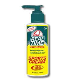 Real Time Sports Cream contains reduced menthol to protect you from masking your pain and to prevent you from re-injury.