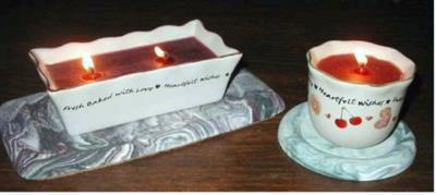 Coasters can be used under wicked candles to prevent heat from harming your furniture