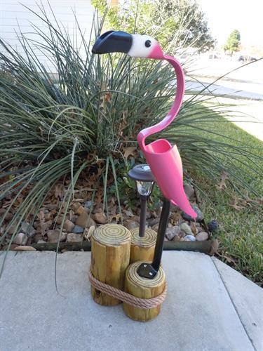 "32""  Flamingo , Outdoor Solar Light"
