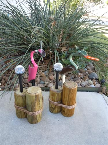 "19""  Baby Flamingo & Mallard Duck , Outdoor Solar Light"