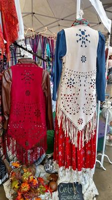 New Suede Fringe Vests available in a variety of colors.