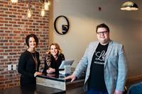 Photo with Amy & Amanda, Co-Owners, Five AM Men's Boutique